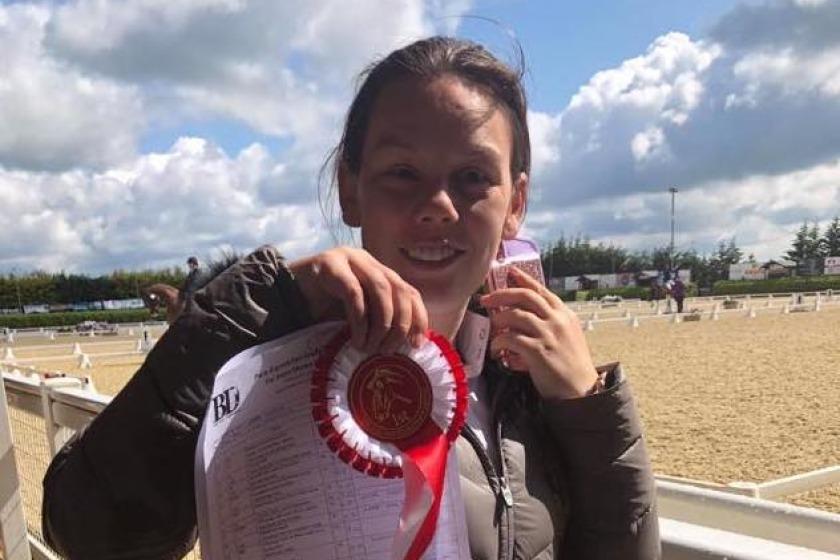 Manx Girl At British Para Dressage Team Champs Energy Fm Isle Of Man