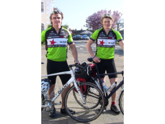 Kit & Johnny ready to cycle the gruelling 1800 miles to Greece