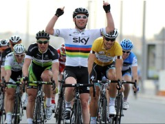 Mark Cavendish in the Tour of Qatar (picture courtesy of Team Sky)