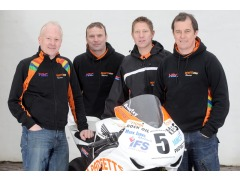 The 2012 Padgetts TT Team: from left to right; team boss Clive Padgett, Bruce Anstey, Gary Johnson and John McGuinness