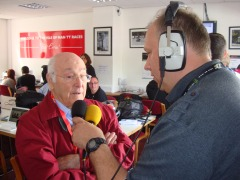 Murray walker chats to Chris Boyde on air
