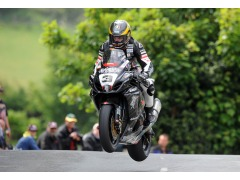Guy in action during the Superbike TT yesterday on the Isle of Man