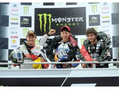 Top 3 on the podium at this afternoon's Monster Energy Supersport TT.