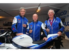 Team owners Philip and Hector Neill with Tyco Security Products' Vice President and MD [EMEA] Phil Dashey [centre]