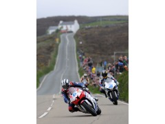 Michael Dunlop at Creg Ny Baa on the way to his 2nd TT win of the week