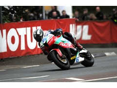 Michael Dunlop lapping at 124.530mph, the fastest Supersport lap of the week